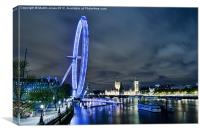 London Eye - Big River Vista, Canvas Print