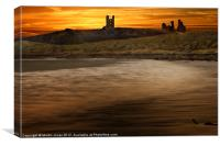 The Ancient Fortress of Dunstanburgh, Canvas Print