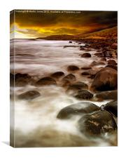 Sunrise on the Rocks, Canvas Print