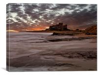 Bamburgh Dawn, Canvas Print