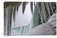 Niagara Freeze, Canvas Print