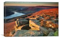 Bamford Edge Sundown, Canvas Print