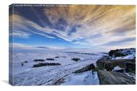 Winter comes to Higger Tor, Canvas Print