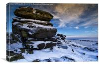 Gritstone Monoliths of Higger Tor, Canvas Print