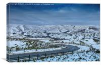 The Road into Edale, Canvas Print