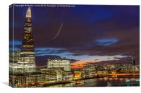 From the Shard  to the London Eye, Canvas Print