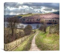 From Grindle Clough to Ladybower, Canvas Print