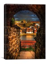 Through the Keyhole at Whitby , Canvas Print