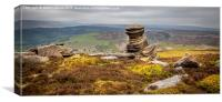 The Salt Cellar on Derwent Edge, Canvas Print