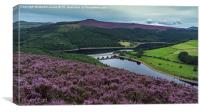 Colour comes to Ladybower, Canvas Print