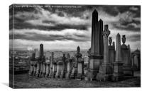 The City of the Dead, Glasgow's Necropolis., Canvas Print