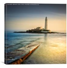 Over the causeway to St Mary's Lighthouse, Canvas Print