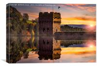 Autumn at Derwent Dam, Canvas Print