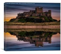 The Fortress of Bamburgh, Canvas Print