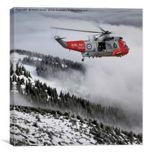 Royal Navy Sea King to the Rescue, Canvas Print