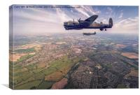 Lancaster and Spitfire of the BBMF, Canvas Print