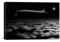 Speedbird One - Trans Atlantic, Canvas Print