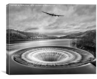 Lancaster over Ladybower, Canvas Print