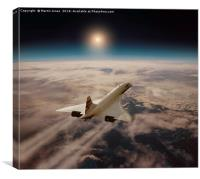 Concorde - Chasing the sun, Canvas Print