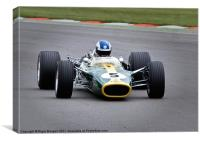 Lotus F1 Car Type 49, Canvas Print