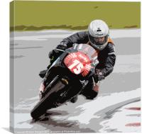 Aprilia Taking a Corner, Canvas Print