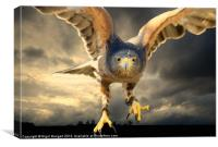 Death Comes on Silent Wings, Canvas Print