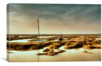 Tollesbury Harbour, Canvas Print