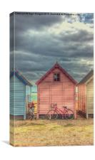 Beach Huts at Mersea Island, Canvas Print