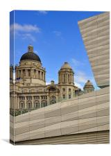 New And Old, Liverpool, Canvas Print