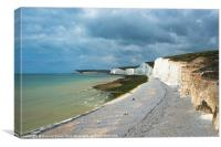 The Seven Sisters - Sussex, Canvas Print