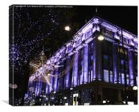 Selfridges: Christmas Time in London, Canvas Print