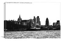 Thames North Bank Skyline, Canvas Print