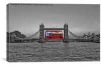 Huge London Bus Tower Bridge, Canvas Print