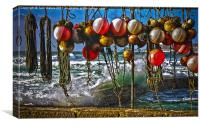 Fishing Buoys HDR, Canvas Print