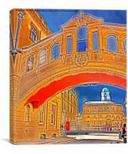 Sheldonian Theatre Oxford Through Hertford Bridge, Canvas Print