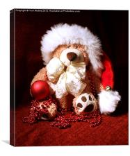 Christmas Teddy, Canvas Print