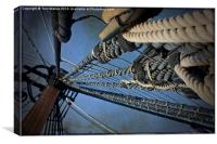 The Rigging Of Hms Victory, Canvas Print
