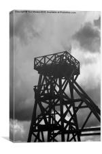 The Winding Tower Geevor Tin Mine , Canvas Print