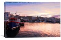Sunset In Falmouth, Canvas Print