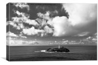 Clouds Over Godrevy Lighthouse, Canvas Print