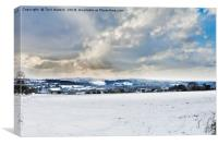 The Day It Snowed In Cornwall, Canvas Print