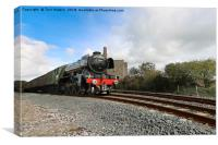 The Flying Scotsman in Cornwall, Canvas Print