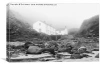 Kynance Cove In The Mist, Canvas Print