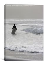 Lone Surfer, Canvas Print