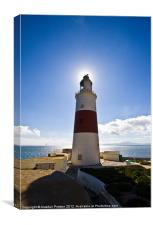 Europa Point Lighthouse, Canvas Print