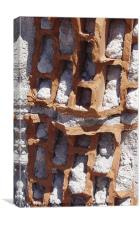 Eroded brick of ruin, Canvas Print