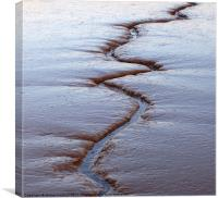 Tidal mudflats, Kyson Point, Suffolk, Canvas Print