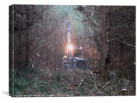 Forestry gobbling machine!, Canvas Print