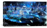The Kiss, Olympic Ceremony 2012, Canvas Print