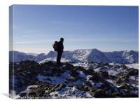 Coniston Old Man Summit, Cumbria, Canvas Print